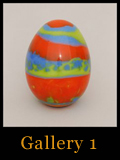 Unique Collectible Cast Glass Eggs - Gallery 1